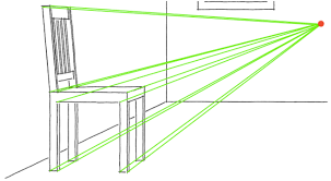 drawing a one point perspective room tutorial
