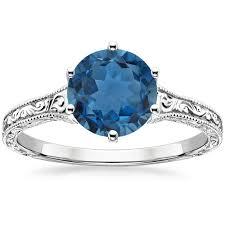 london blue topaz engagement ring london blue topaz hudson ring in 18k white gold brilliant earth