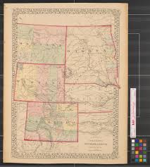 Maps Of Colorado County Map Of Colorado Wyoming Dakota Montana The Portal To