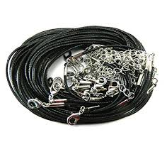 leather cord necklace clasps images Rockin beads brand 20 imitation leather cord necklaces jpg
