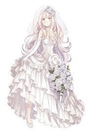 wedding dress zerochan anime image board