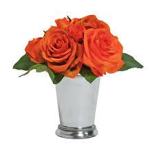 Mint Julep Vase Tree Masters Inc Rose Bouquet In Mint Julep Cup U0026 Reviews Wayfair