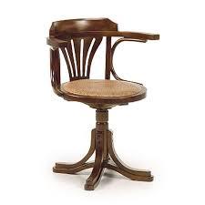 chaise de bureau en bois fauteuil de bureau rétro en bois exotique mindi tali