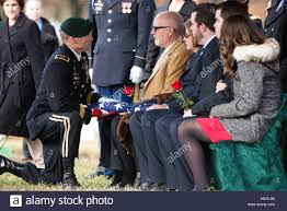 Army Service Flag Brian M Mcenroe Center Receives The American Flag During The