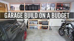 diy garage build part 1 building shelves and tire rack youtube