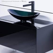 matte black bathroom faucet and black vessel sink combo