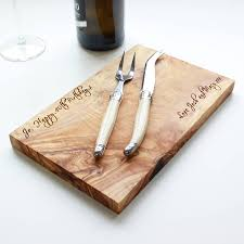 Cooking Board by Personalised Olive Wood Cheese Chopping Board By The Rustic Dish