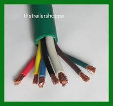 trailer light cable wiring harness 7 wire jacketed green flexible