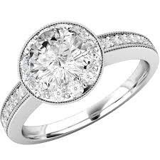 brilliant diamond rings images Round cut halo style diamond ring in platinum pd520pl purely png