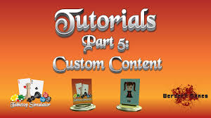 Table Top Simulator Tabletop Simulator Tutorial Series Part 5 Custom Content Youtube