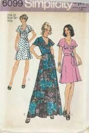 v shaped dress pattern butterick 3731 1970s v neck midriff misses dress pattern size 10