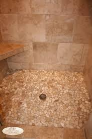 River Rock Bathroom Ideas Bathroom Travertine Tile Shower Is Good For Your Bathroom And