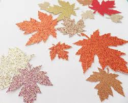 autumn glitter leaves 1 5 to 2 25 confetti wedding