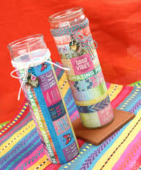 washi tape happiness candles crafty chica