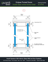 eclipse glass pocket doors technical drawing details loversiq