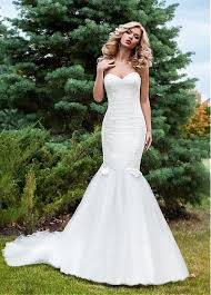 gorgeous sweetheart neckline mermaid wedding dress with lace