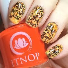 halloween nail art orange and black splatter keely u0027s nails