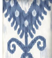 Upholstery Weight Fabric Ikat Fabric In Blue U0026 White Upholstery Weight Ikat Fabric