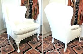 chair slipcovers t cushion armchair slipcover small wing chair slipcover image for