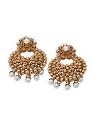 danglers earrings design shillpa purii gold carving tilak dangler shop earrings at