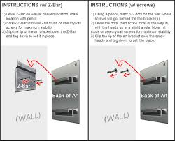 how to hang art prints how to hang metal wall art mounting instructions diagram mad