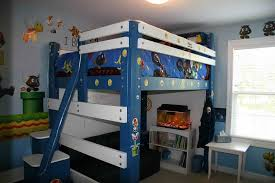 child u0027s loft bed with lights steps whiteboard and even