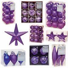Purple Decorations Purple Christmas Decorations And Trees Ebay
