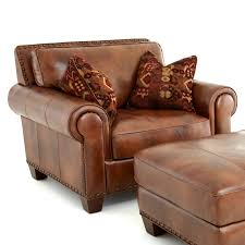 Brown Leather Accent Chair Light Brown Leather Accent Chair With Tribal Throw Pillows And