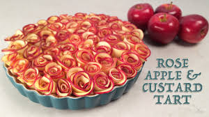 rose apple custard tart recipe by ann reardon how to cook that