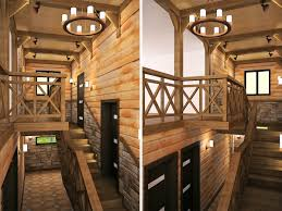 the interior in the chalet style bugrov pro