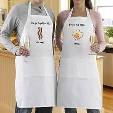 personalized aprons for couples we go together