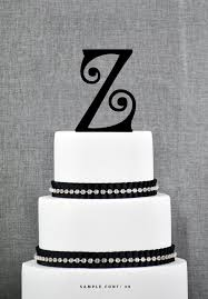 z cake toppers personalized monogram initial wedding cake toppers letter z