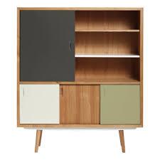 Solid Oak Buffet by Solid Oak Sideboard Grey Red Edition Design