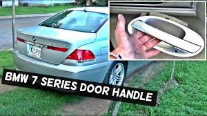 bmw door handle light replacement bmw e65 e66 rear door handle removal replacement 730i 735i 745i 750i