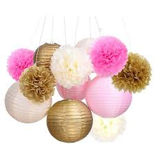 Gold Flowers Pink And Gold Flowers For Party Decoration Amazon Com
