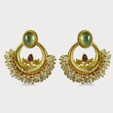 gold earrings for marriage design of gold earrings with
