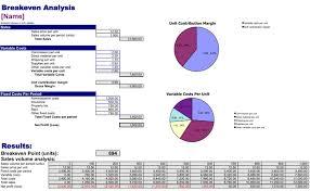 break even analysis template download free u0026 premium templates