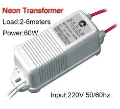 6 meters 60w neon sign transformer power supply neon light