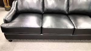Coaster Leather Sofa Layton Collection Black Leather Sofa 504841 By Coaster Sold At