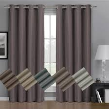 Linen Curtain Panels 108 Gulfport Blackout Weave Window Curtains With Grommets