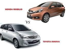 honda car comparison comparison honda mobilio vs toyota innova compare price
