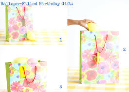 balloon gift balloon filled birthday gift diy gift wrapping balloon time