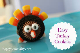 turkey cookies for thanksgiving easy turkey treats happy home fairy