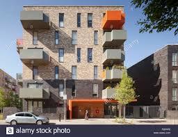 front elevation of multi storey housing flat ocean estate