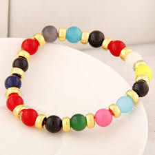 bracelet design beads images Rosary multicolor beads decorated simple design alloy korean jpg