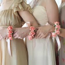 bridesmaid corsage handmade paper flower bracelet posie flowers