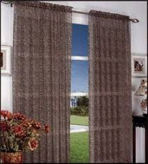 Leopard Curtains Black And White Double Layer Window Curtain Panel Silver Grommets
