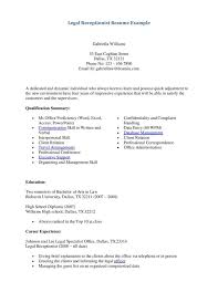 resume exle for receptionist office resume attorney cover letter receptionist exle