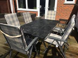 Metal Garden Table Kettler Metal Garden Table Set With Six Reclining Chairs And Seat