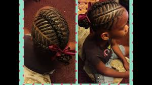 fish bone cornrow braid hairstyle for kids on natural cute